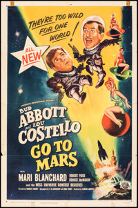 """Abbott and Costello Go to Mars (Universal International, 1953). Folded, Fine. One Sheet (27"""" X 41""""). Comedy..."""