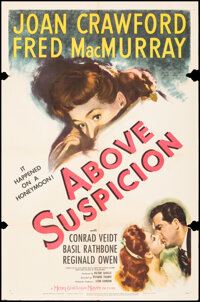 """Above Suspicion (MGM, 1943). Folded, Fine+. One Sheet (27"""" X 41"""") Style C. Thriller"""