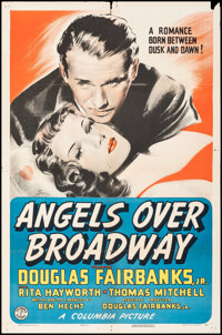 """Angels Over Broadway (Columbia, 1940). Folded, Fine/Very Fine. One Sheet (27"""" X 41""""). Drama"""