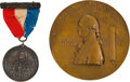 Political:Tokens & Medals, George Washington: Centennial Medal and Badge.... (Total: 2 Items)