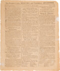 Miscellaneous:Newspaper, The Pennsylvania Mercury: Adoption of the Constitution by Virginia and New Hampshire....