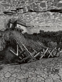 Jerry Uelsmann (American, 1934) Untitled (House with Dry Trees), 1978 Gelatin silver print 12-1/8