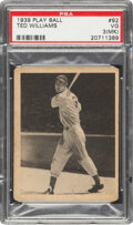 Autographs:Sports Cards, 1939 Play Ball Ted Williams #92 PSA VG 3 (MK)....
