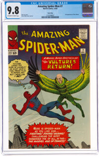 The Amazing Spider-Man #7 Twin Cities Pedigree (Marvel, 1963) CGC NM/MT 9.8 Off-white to white pages