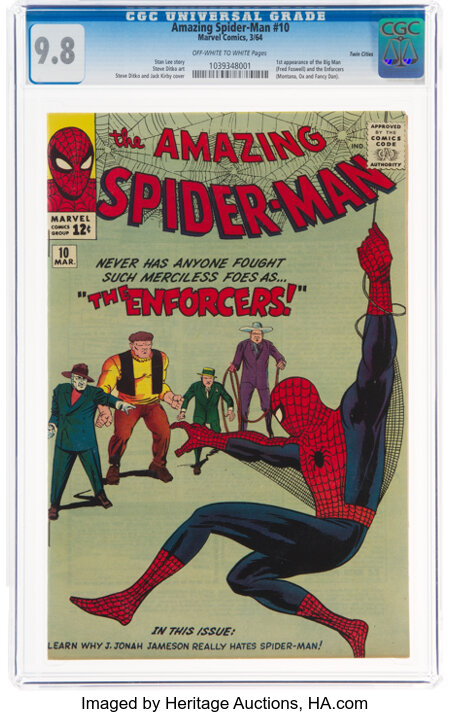 The Amazing Spider-Man #10 Twin Cities Pedigree (Marvel, 1964) CGC NM/MT 9.8 Off-white to white pages....