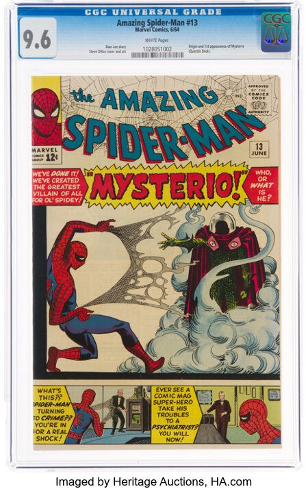 The Amazing Spider-Man #13 (Marvel, 1964) CGC NM+ 9.6 White pages....