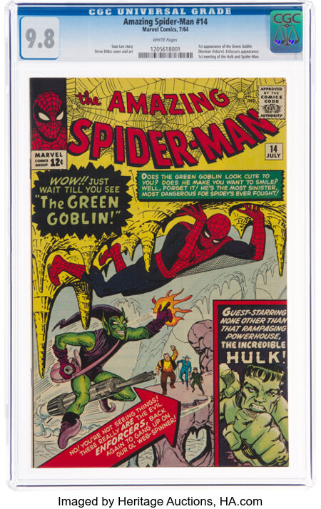 The Amazing Spider-Man #14 (Marvel, 1964) CGC NM/MT 9.8 White pages....