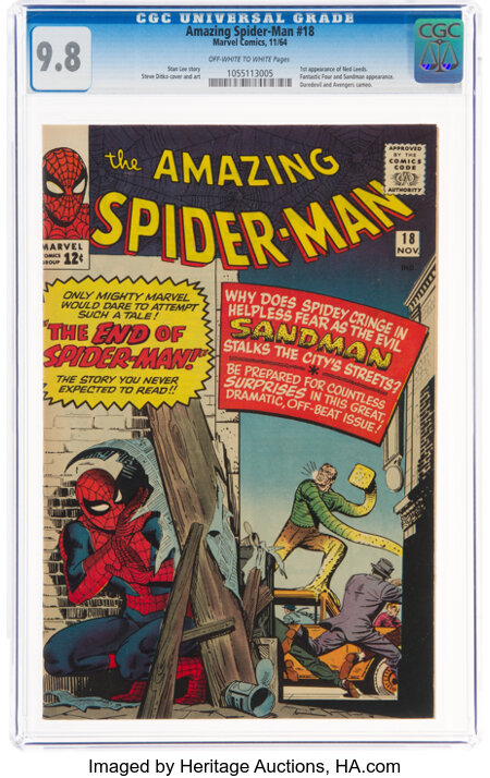 The Amazing Spider-Man #18 (Marvel, 1964) CGC NM/MT 9.8 Off-white to white pages....