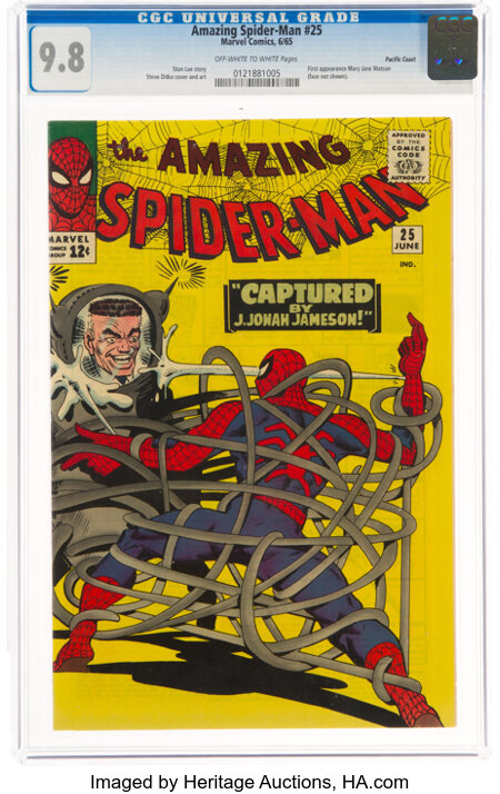 The Amazing Spider-Man #25 Pacific Coast Pedigree (Marvel, 1965) CGC NM/MT 9.8 Off-white to white pages....