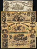 New Orleans, LA- Citizens' Bank of Louisiana $100 18__ Remainder Crisp Uncirculated; New Orleans Canal and Banking Compa...