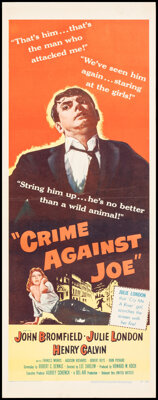 """Crime Against Joe & Other Lot (United Artists, 1956). Rolled, Overall: Fine/Very Fine. Inserts (6) (14"""" X 36&qu..."""
