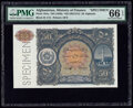 Afghanistan Ministry of Finance 50 Afghanis ND (1936) / ND (SH1315) Pick 19As Specimen PMG Gem Uncirculated 66 EPQ