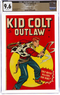 Kid Colt Outlaw #3 The Promise Collection Pedigree (Marvel, 1948) CGC NM+ 9.6 White pages