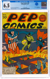 Pep Comics #20 (MLJ, 1941) CGC FN+ 6.5 Off-white pages