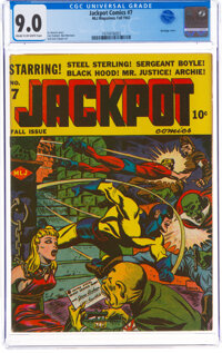 Jackpot Comics #7 (MLJ, 1942) CGC VF/NM 9.0 Cream to off-white pages