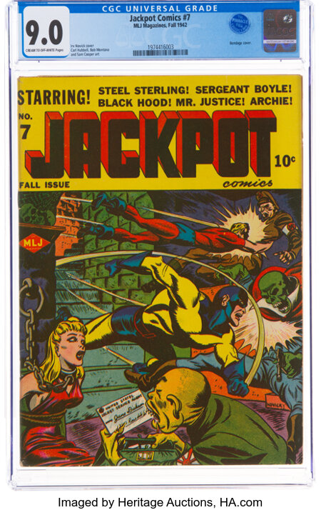 Jackpot Comics #7 (MLJ, 1942) CGC VF/NM 9.0 Cream to off-white pages....