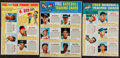 Baseball Cards:Other, 1963 Post Cereal Baseball Uncut Panels Lot of 5. ...