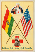 """Movie Posters:Miscellaneous, The Red Cross, the Mother of All Nations -- Bolivia (Red Cross, c. 1916). Rolled, Very Fine. Spanish Language Poster (10.5"""" ..."""