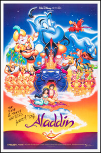 """Aladdin (Buena Vista, 1992). Rolled, Very Fine. Autographed One Sheet (27"""" X 41"""") with COA. DS. Animation"""