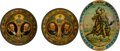 Political:3D & Other Display (1896-present), McKinley & Roosevelt et al: Three Lithographed Tin Beer Trays.... (Total: 3 Items)
