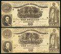 Confederate Notes:1861 Issues, T30 $10 1861 PF-1; PF-3 Cr. 238; Cr. 239 Fine-Very Fine.. ... (Total: 2 notes)