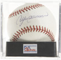 Autographs:Baseballs, Andre Dawson Single Signed Baseball NM/MT+ PSA. 8.5 The 1977 Rookieof the Year and 1987 National League MVP. The ONL ( Co...