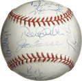 Autographs:Baseballs, 1998 New York Yankees Team Signed Baseball. Coming off theirremarkable 114-win season in 1998, the New York Yankees were o...