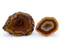 Minerals:Small Cabinet, Moroccan Agate Pair. Morocco. 2.62 x 1.92 x 1.20 inches (6.65 x 4.87 x 3.05 cm). ... (Total: 2 Items)