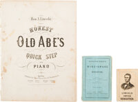Abraham Lincoln: Sheet Music and Two 1860s Songsters