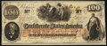 """Confederate Notes:1862 Issues, """"Issued at Galveston, TX"""" T41 $100 1862 PF-25 Cr. 318A Extremely Fine-About Uncirculated.. ..."""