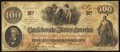 """Confederate Notes:1862 Issues, Military Endorsement """"Edgar Miller Captain & AQM"""" T41 $100 1862 PF-23 Very Fine-Extremely Fine.. ..."""