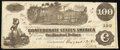 """Confederate Notes:1862 Issues, """"Issued at San Antonio"""" T39 $100 1862 PF-13 Cr. 294 Fine.. ..."""