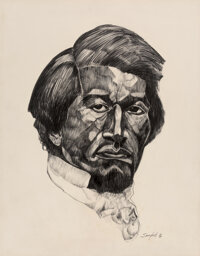 Walter Sanford (American, 1912-1987) Frederick Douglass, January 1969 Pencil on paper 28 x 22 inches (71.1 x 55.9 cm)
