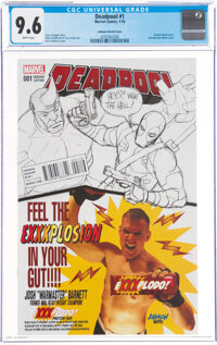 Deadpool #1 Johnson Sketch Cover (Marvel, 2016) CGC NM+ 9.6 White pages
