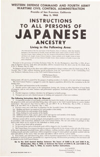 Historic WWII Japanese Internment Poster