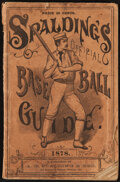 Baseball Collectibles:Balls, 1878 Spalding's Official Base Ball Guide. In some ...