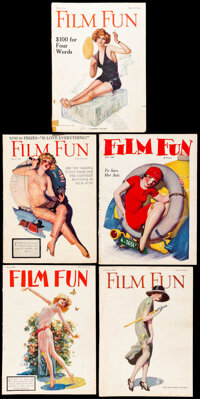 """Film Fun (Leslie-Judge Co., 1924-1927). Overall: Fine/Very Fine. Magazines (5) (Multiple Pages, Approx. 8.25"""" X 11..."""