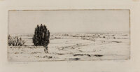 Aaron Douglas (American, 1899-1979) Desert Land, circa 1951-55 Etching on wove paper 4-1/4 x 10-1/4 inches (10.8 x 26