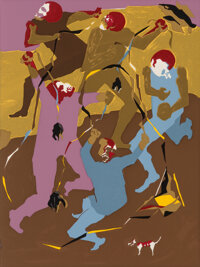 Jacob Lawrence (American, 1917-2000) Hiroshima, with poem by Robert Penn Warren, 1983 Illustrated book with 8 Screenpr...