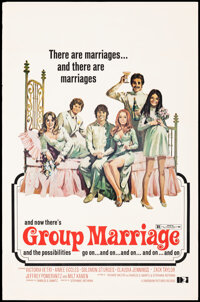 """Group Marriage (Dimension, 1973). Rolled, Fine/Very Fine. Poster (23"""" X 35""""). Sexploitation"""