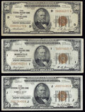 Small Size:Federal Reserve Bank Notes, Fr. 1880-D; I; J $50 1929 Federal Reserve Bank Notes. Fine or Better.. ... (Total: 3 notes)