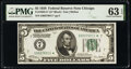 Small Size:Federal Reserve Notes, Fr. 1950-G* $5 1928 Federal Reserve Star Note. PMG Choice Uncirculated 63 EPQ.. ...