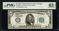Fr. 1950-G* $5 1928 Federal Reserve Star Note. PMG Choice Uncirculated 63 EPQ