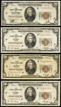 Fr. 1870-C; F (4); G (2) $20 1929 Federal Reserve Bank Notes. Fine or Better. ... (Total: 7 notes)