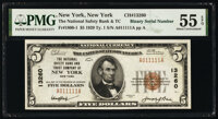 Binary Serial A011111A New York, NY - $5 1929 Ty. 1 The National Safety Bank & Trust Company Ch. # 13260 PMG About U...