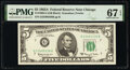 Small Size:Federal Reserve Notes, Fr. 1968-G $5 1963A Federal Reserve Note. PMG Superb Gem Unc 67 EPQ.. ...