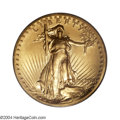 High Relief Double Eagles: , 1907 $20 High Relief, Wire Rim MS64 PCGS. A magnificent ...