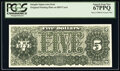 Miscellaneous:Other, 1890 $5 Treasury Note Back Intaglio Impression From Original Plate on BEP Card PCGS Superb Gem New 67PPQ.. ...