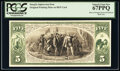 Miscellaneous:Other, 1863-75 $5 National Bank Note Back Intaglio Impression From Original Plate on BEP Card PCGS Superb Gem New 67PPQ. . ...