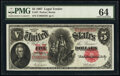 Large Size:Legal Tender Notes, Fr. 87 $5 1907 Legal Tender PMG Choice Uncirculated 64.. ...